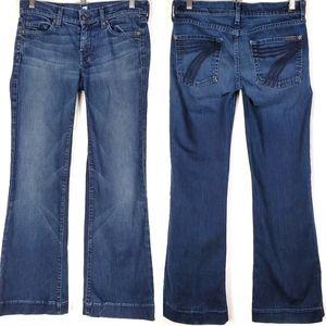 7 For All Mankind Dojo Wide Leg Flare Jeans SZ 27